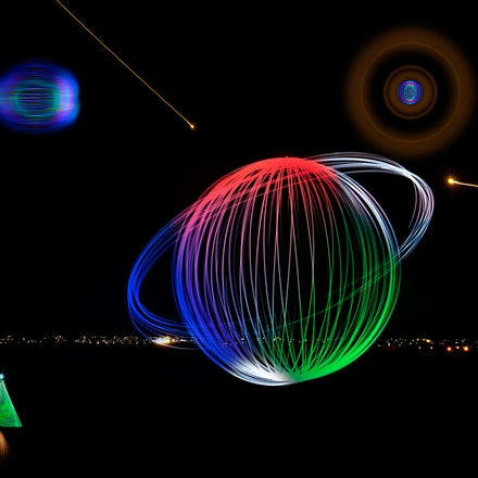 Alien LIght Show - Digital art from the light night.