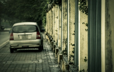 Carivans - This street had a few people, just parked and waiting in their cars. For what?!