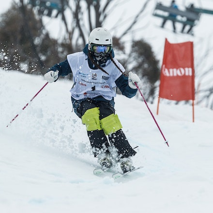 140819_Moguls_5847 - Athlete competing during day 1 of the Canon Australian Freestyle Mogul Championships at Perisher, NSW (Australia) on August 19 2014....