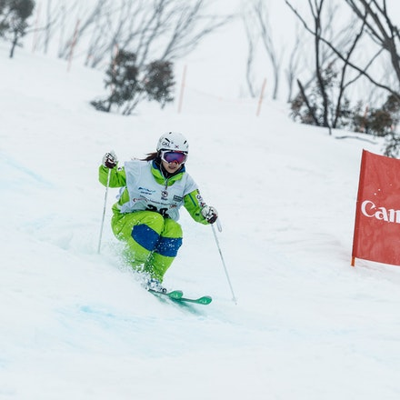 140819_Moguls_5923 - Athlete competing during day 1 of the Canon Australian Freestyle Mogul Championships at Perisher, NSW (Australia) on August 19 2014....