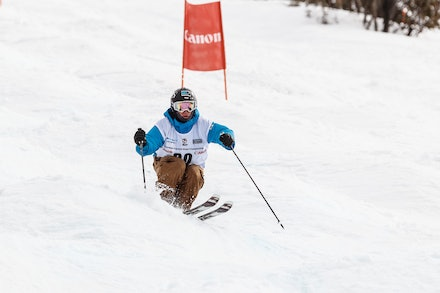 140819_Moguls_6506 - Athlete competing during day 1 of the Canon Australian Freestyle Mogul Championships at Perisher, NSW (Australia) on August 19 2014....