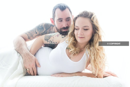 Stylised Maternity Portraits - Beautiful makeover and stylised Maternity portraits by Logan City photographer Kerry Bergman in her Waterford studio.