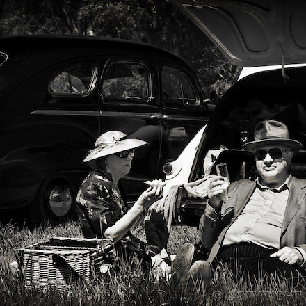 Roadside picnic in the country - Enjoying a day in the country.