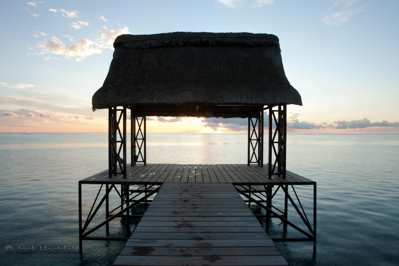 Pier at sunset, Troux aux Biches, Ile Maurice - Photographs taken at Troux aux Biches in Mauritius, on our stop over from Johannesburg on immigration to...