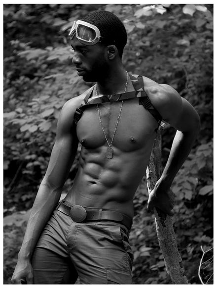 DT100710 - Signed Black Male Fashion Photo Art by Jayce Mirada