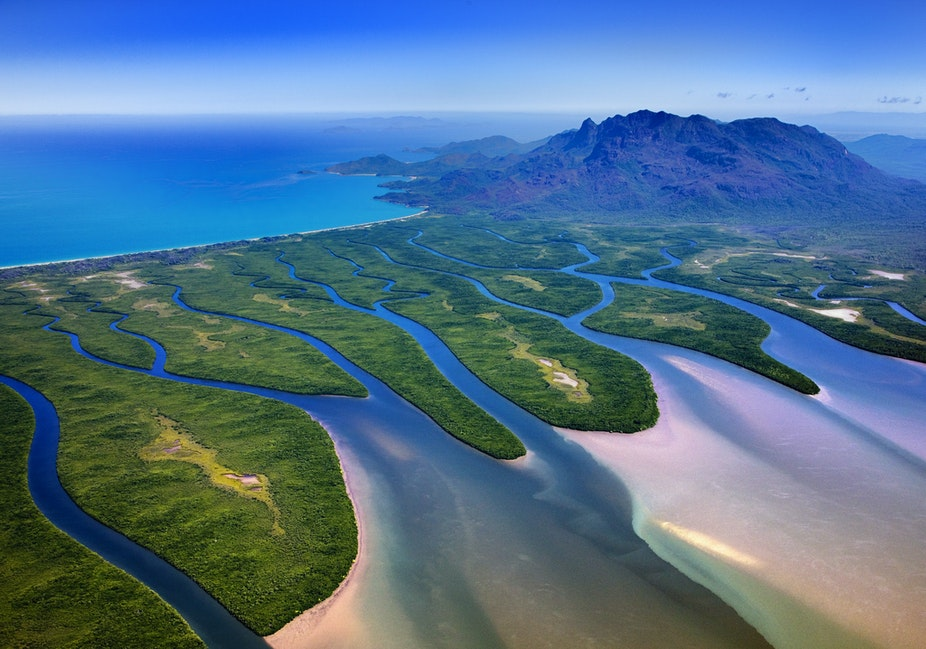 Hinchinbrook Island_48785 - Aerial view of Hinchinbrook Island and Channel