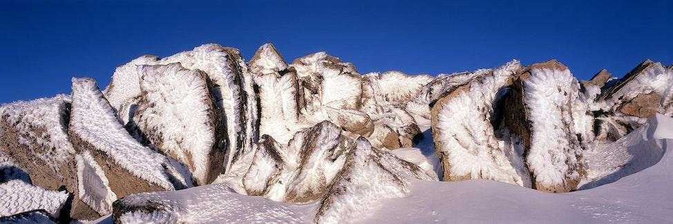 Rime Encrusted Rocks