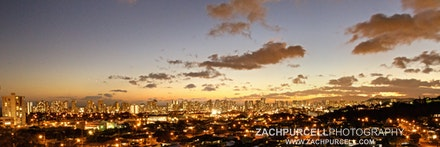 Orange Honolulu Dusk - Location: Wilhelmina Date: July 2016  Time 7:45 PM ISO:6,400 Shutter Speed:2.5 sec. Aperture:20 Focal Length:24mm