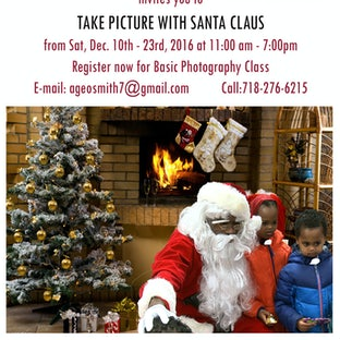 Take Picture With Santa Claus - SATURDAY DECEMBER 10-23rd, 2016