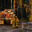 Richmond Vale Bushfire - 13/09/2017 - Emergency Services respond to a major bushfire South of Kurri Kurri. Thursday the fire reached Emergency Warning...