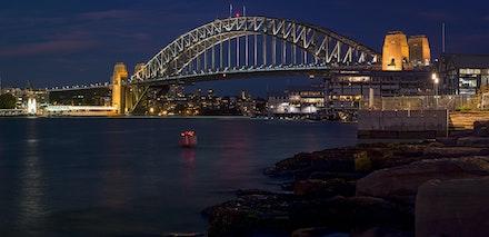 042 Barangaroo 120516-6550-Pano-Edit-Edit - The Sydney Harbour Bridge. 5 shot image using a 105mm lens