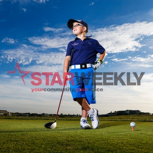 Young golfer Taegen Dodds - Pictures by Luke Hemer