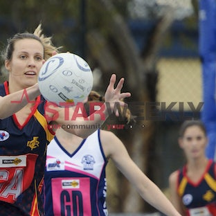 RDNL A grade Netball Diggers Rest v Macedon - Pictures by Shawn Smits