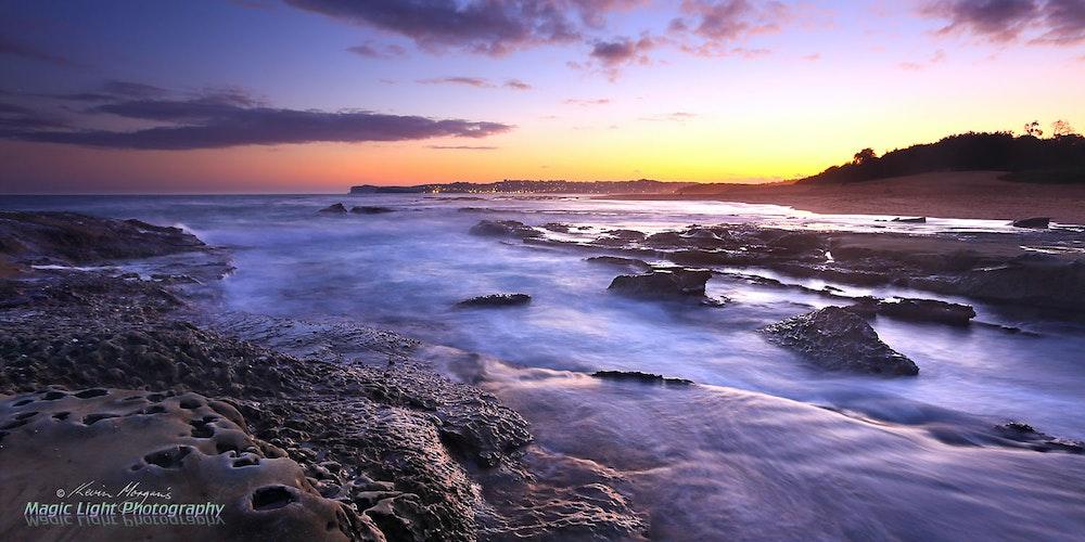 Spoon Bay Sunset 09 Feb 2016 IMG_2557 1500 panorama