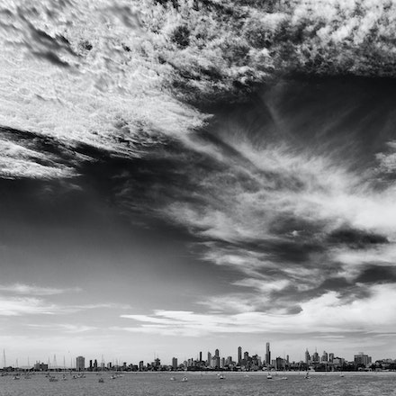 Big St Kilda Sky - Looking back towards Melbourne City form St Kilda