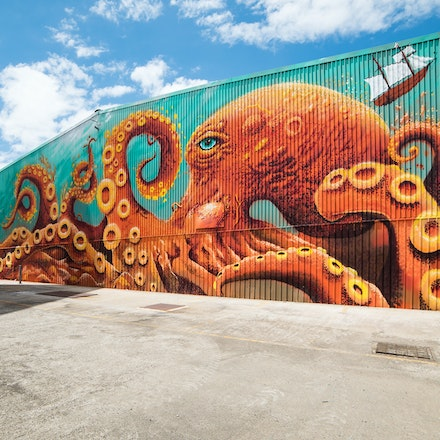 Docklands Octopus - Street art in Docklands, Melbourne