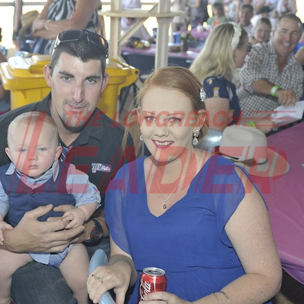151003_SR22222 - Brenton and Blake Richards and Tamsyn Sitters at the Jundah Cup day races, Saturday October 3, 2015.  sr/Photo by Sam Rutherford