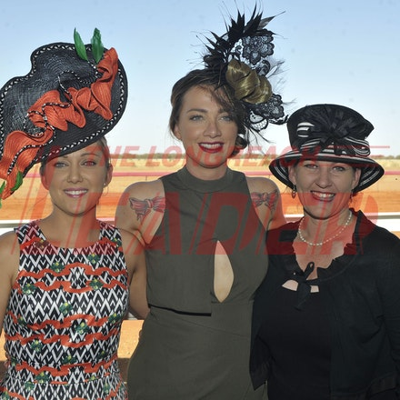 151003_SR22260 - Katrina Harmsworth, Lisa Russell and Tanya Forsythe at the Jundah Cup day races, Saturday October 3, 2015.  sr/Photo by Sam Rutherford