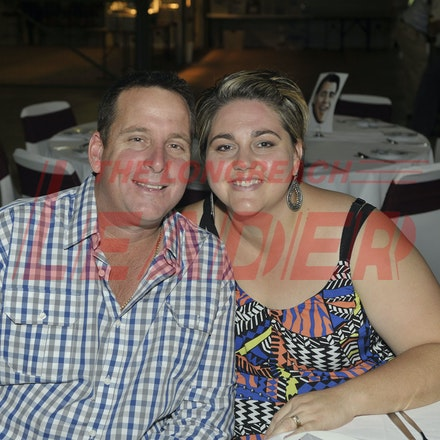 151107_SR24866 - Brooke & Anthony Miller at the Sportsmans Dinner in Barcaldine, Saturday November 7, 2015.  sr/Photo by Sam Rutherford.