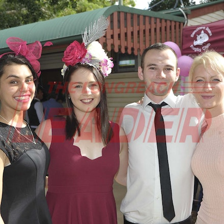 160430_SR25425 - Maddison Blucher, Elisa Winter, Joshua Taylor and Zoe Henderson at the Tree of Knowledge Cup Race day in Barcaldine, Saturday April 30,...