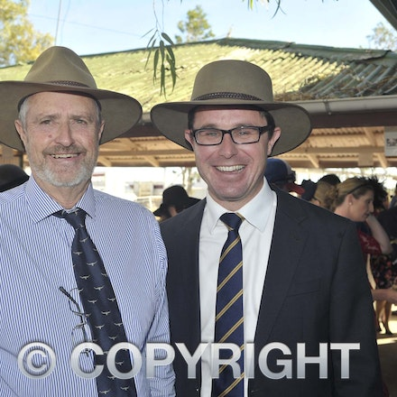 160709_SR22508 - Ed Warren and David Littleproud MP at the Ilfracombe Races, Saturday July 9, 2016.  sr/Photo by Sam Rutherford
