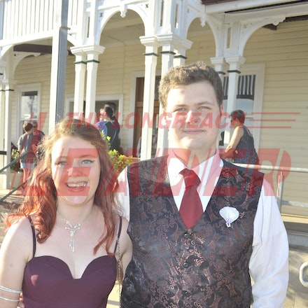 161118_SR24917 - Madalyn Crossley, Brayden Fletcher at the Longreach State High School's Year 12 Formal photo call at the Railway Station, Friday November...