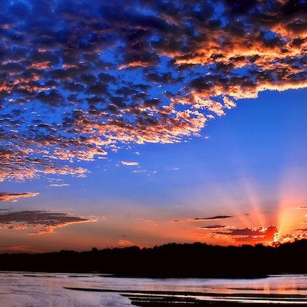 Platte Dawn - Moments before an August sunrise over the Platte River east of Grand Island, Nebraska