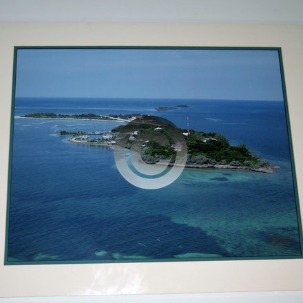 WALKERS CAY MATTED - This aerial is vacuum mounted with double mats and shrink wrapped.  Ready for a 20 x 24 frame!